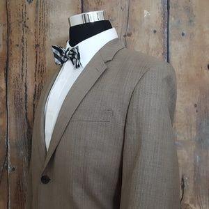 Perry Ellis Sport Coat Mens 44S Poly Blend Brown